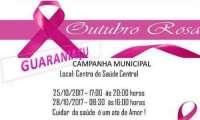 Guaraniaçu - Secretaria de Saúde concentra ações do Outubro Rosa