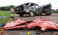 Guaraniaçu - Idoso morre em acidente, envolvendo carros de Campo Bonito e Laranjeiras