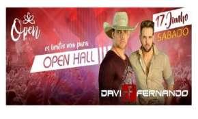 Pinhão - Neste sábado dia 17, todos para a Open Hall no super show de Davi e Fernando