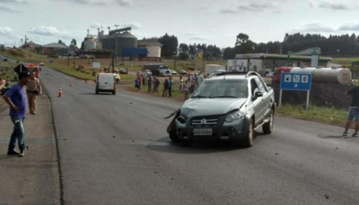 Candoi - Acidente deixa duas pessoas gravemente feridas na BR-373
