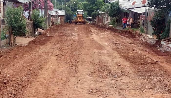 Laranjeiras – Pavimentação está a todo vapor, em plena véspera de Ano Novo na vila São Miguel