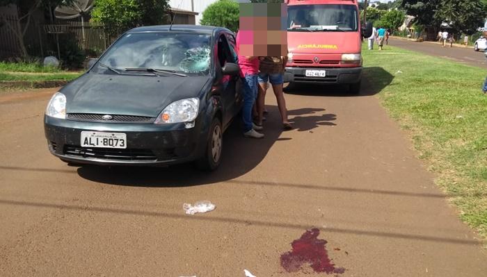 Laranjeiras - Mulher fica gravemente ferida após ser atropelada