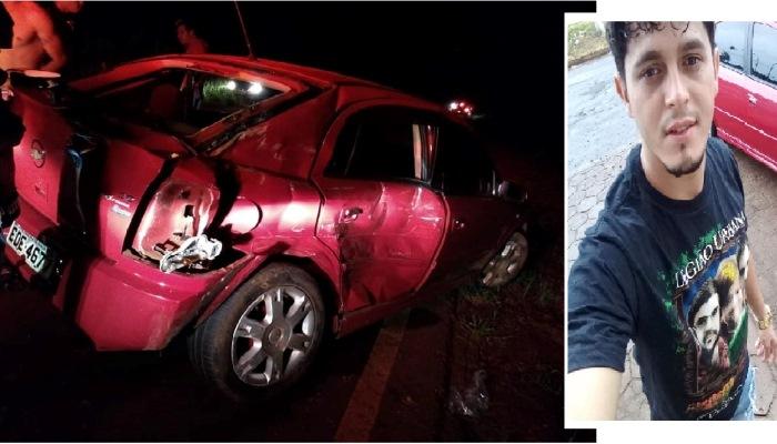 Quedas - Jovem morre em acidente na noite deste sábado