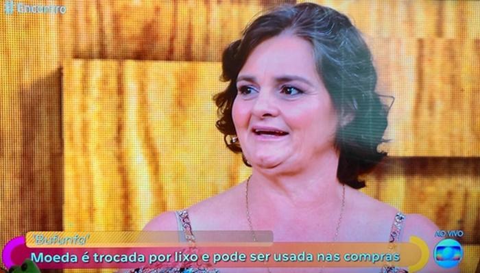 Pinhão - Dona de casa leva 'Bufunfa' para Programa Encontro da Rede Globo