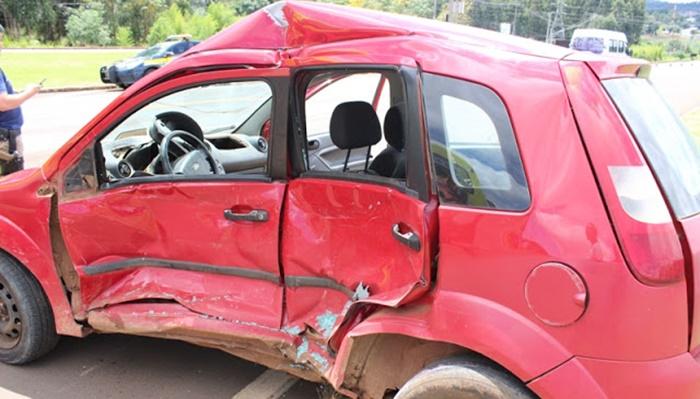 Laranjeiras - Grave acidente é registrado na BR 277