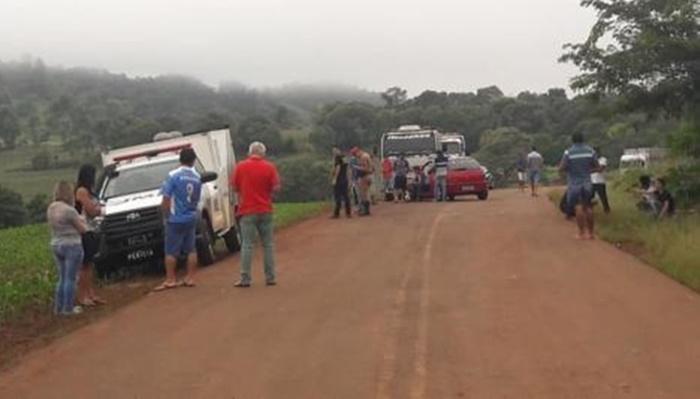 Três Barras - Mulher morre atingida por carro na PR-471