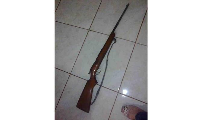Goioxim - Arma registrada é roubada de dentro de casa