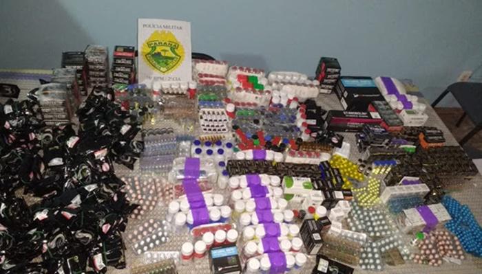 Laranjeiras - Veículo carregado de contrabando é apreendido pela PM
