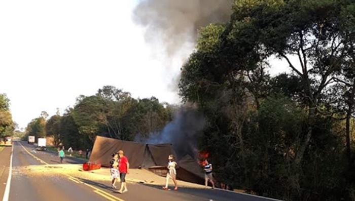Laranjeiras - Grave acidente na BR 277 próximo a Campo Mendes