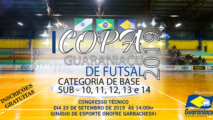 Guaraniaçu - Vem aí a I Copa Guaraniaçu de Futsal Categoria de BASE