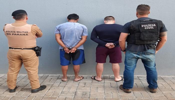 Laranjeiras - Operação conjunta da Polícia Civil e Militar prendem dois indivíduos envolvidos em tentativa de homicídio