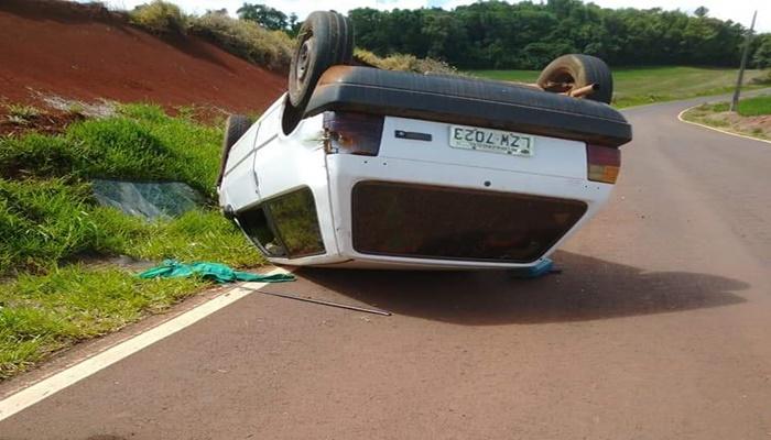 Porto Barreiro - Capotamento é registrado na PR 565 deixa feridos