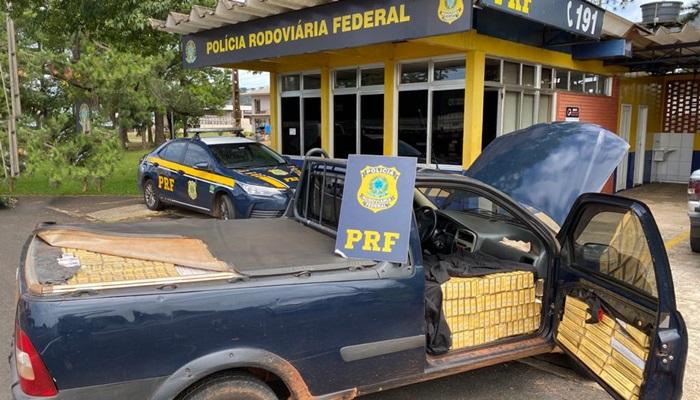 Laranjeiras - PRF apreende cigarros contrabandeados e prende contrabandista