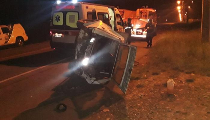 Pinhão - Motorista foge após colisão na PR 170