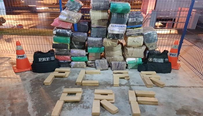 União de forças de segurança apreendem grande carregamento de drogas