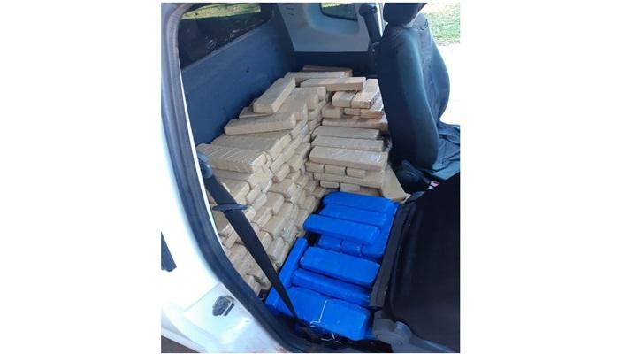 Laranjeiras - PRF apreende mais de 200 quilos de maconha e recupera veículo roubado