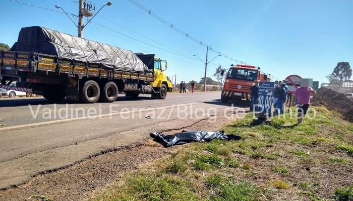 Pinhão - Homem morre atropelado na PR 170