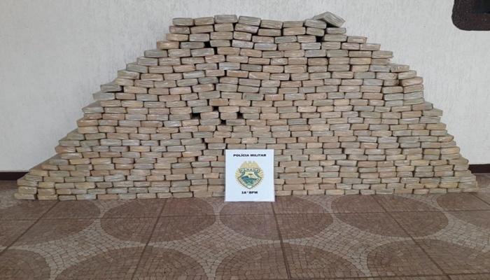 Pinhão - Operação contra o Tráfico de Drogas resulta em apreensão de 320 kg de maconha