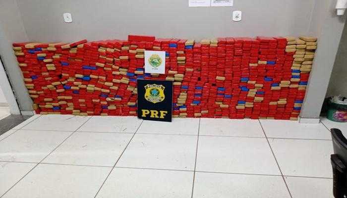Nova Laranjeiras - ROTAM e PRF apreendem mais de 650 kg de maconha